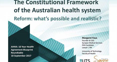 The Constitutional Framework of the Australian health system