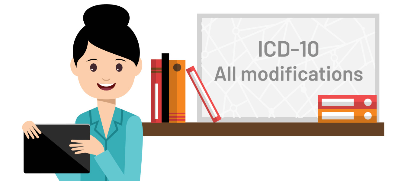 ICD-10 All modifications coding available