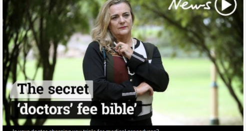 Croaky Post Lifting the lid on a media 'scandal' about doctors' fees