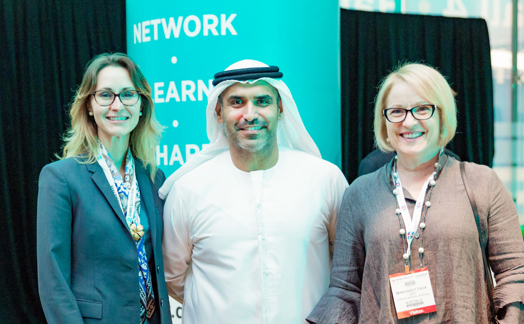 Margaret Faux at Arab Health 2019 Networking Event